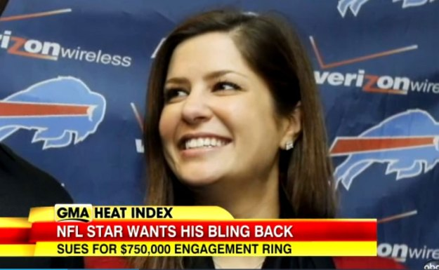 Mario Williams, Engagement Ring, Buffalo Bills, Erin Marzouki